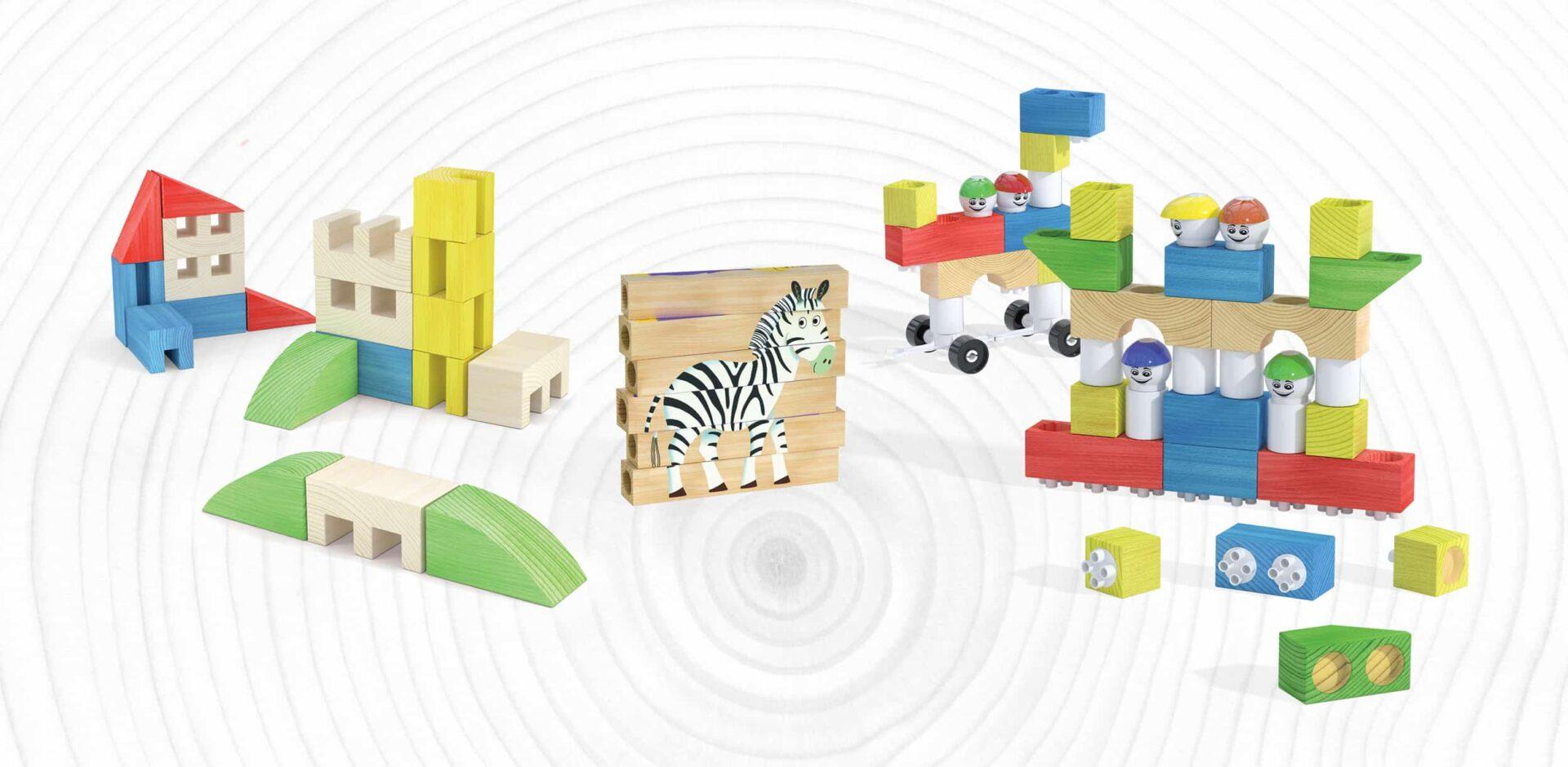 Linea Quercetti Wood, il ritorno al giocattolo realizzato in legno