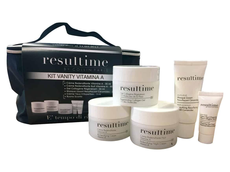 Kit Vanity Vitamina A di RESULTIME ... per avere prodotti beauty di qualità sempre a portata di mano