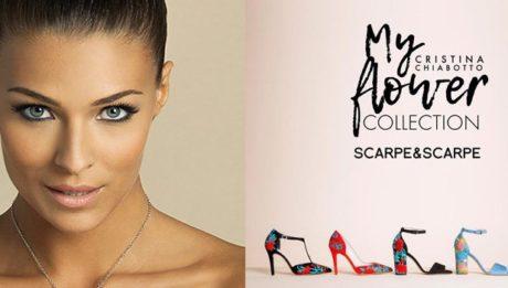 Cristina Chiabotto firma My Flower Collection Scarpe&Scarpe