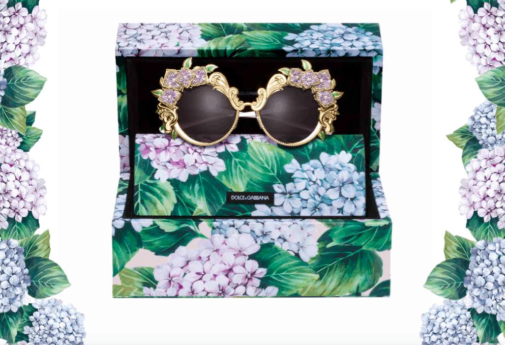 Eyewear iconici nella collezione Ortensia firmata Dolce&Gabbana