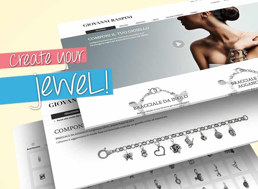 Su www.giovanniraspini.com con i charms preferiti puoi comporre il tuo bracciale personalizzato