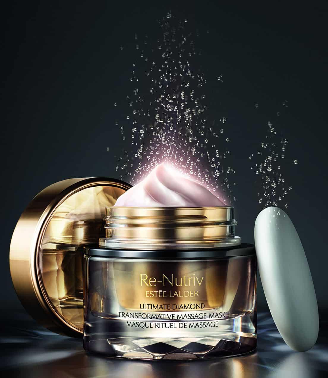 Estée Lauder Re-Nutriv Ultimate Diamond Transformative Thermal Ritual , per energizzare la pelle con un massaggio ...da Spa!