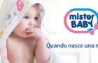 Da Mister Baby novita' per la toilette del bambino: olio da bagno e talco in crema