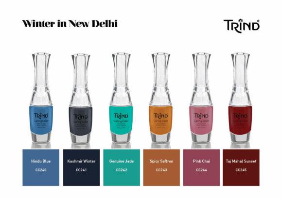 Winter in New Delhi, la nuova sofisticata collezione autunno-inverno 2017-2018 di smalti firmata Trind