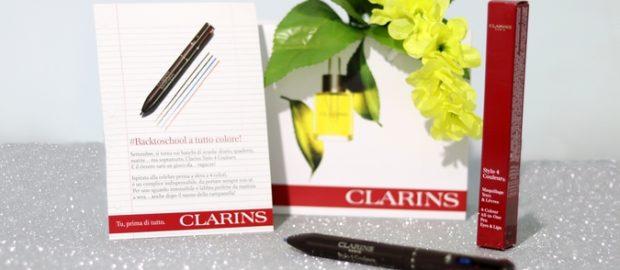 Occhi e labbra truccati alla perfezione con Stylo 4 Couleurs, la penna all-in-one firmata Clarins