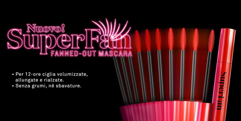 Smashbox Superfan mascara, per ciglia dall'effetto ventaglio - Emma testimonial della nuova campagna