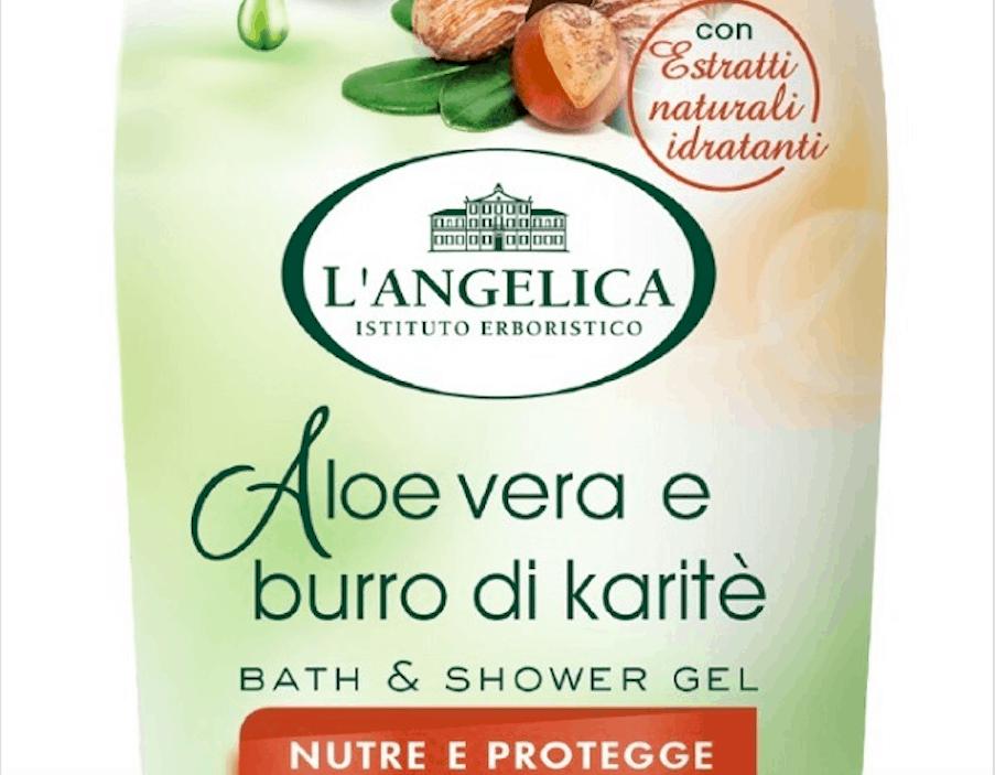 Pelle morbida e nutrita con Bath & Shower Gel Aloe vera e burro di Karitè by L'Angelica