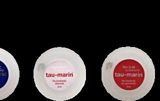 tau-white, il filo interdentale sbiancante di tau-marin, ti regala denti smaglianti!