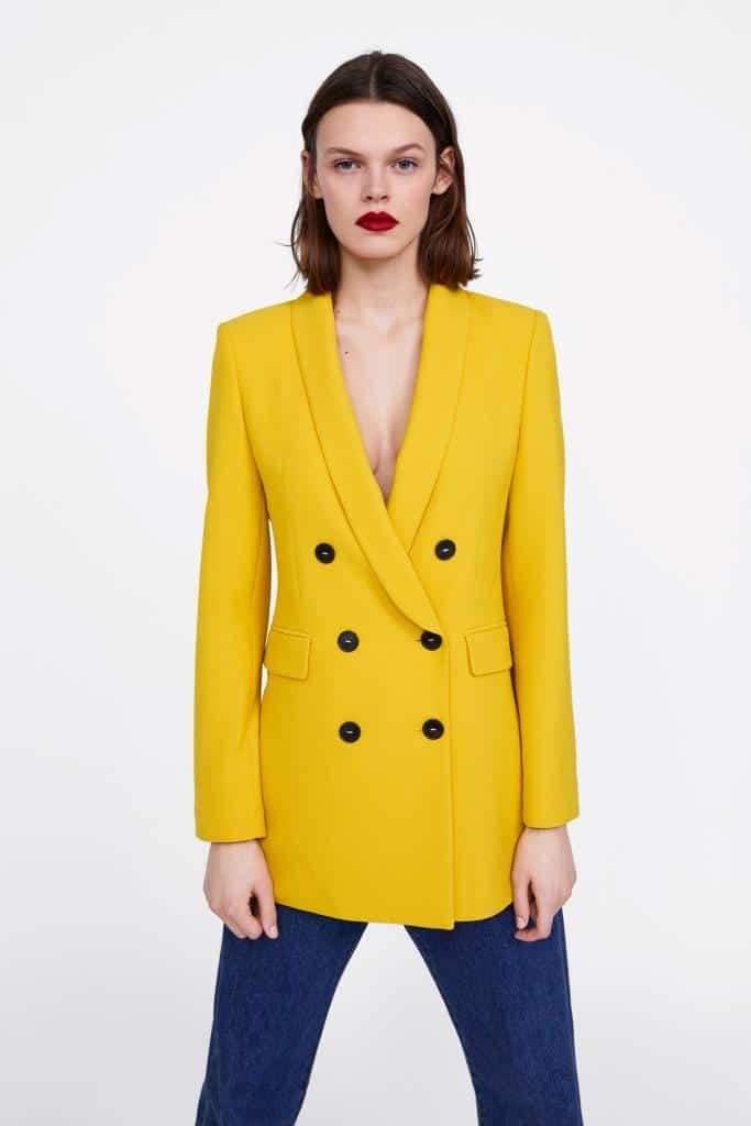 Blazer giallo Zara a 89,95 euro