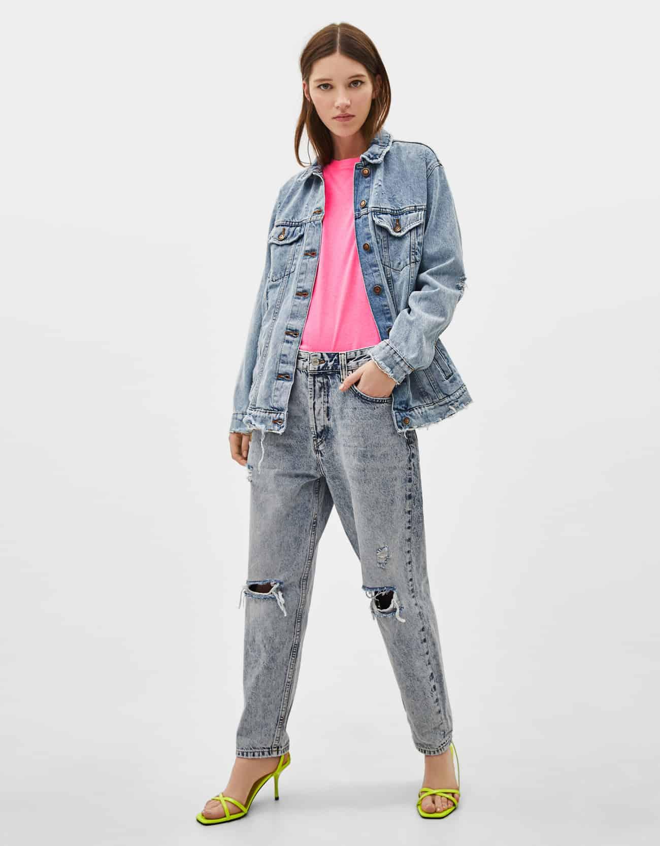 Giubbotto di jeans oversize Bershka a 35,99 euro