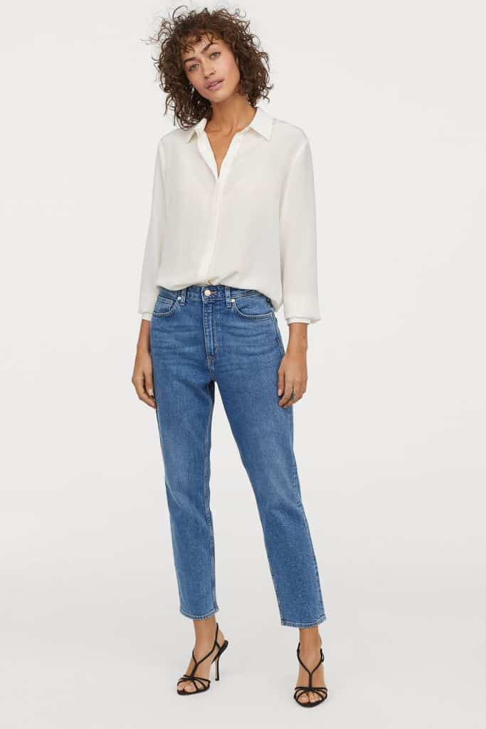 Jeans mom effetto vintage H&M a 29,99 euro