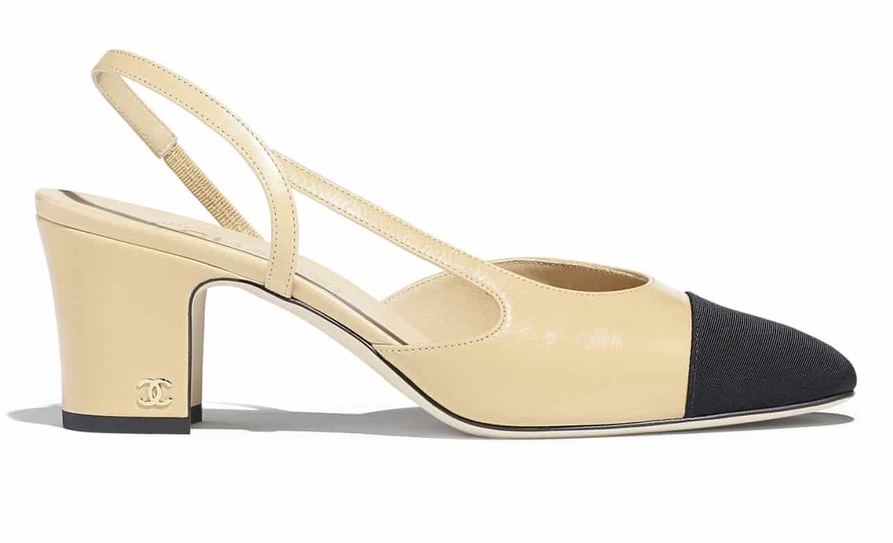 Scarpe slingback Chanel con tacco al prezzo di 690 euro