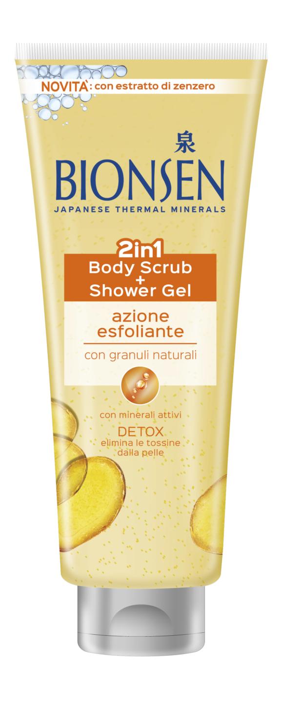 Bionsen 2in1 Body Scrub +Shower Gel, per far splendere la pelle in vista dell'estate