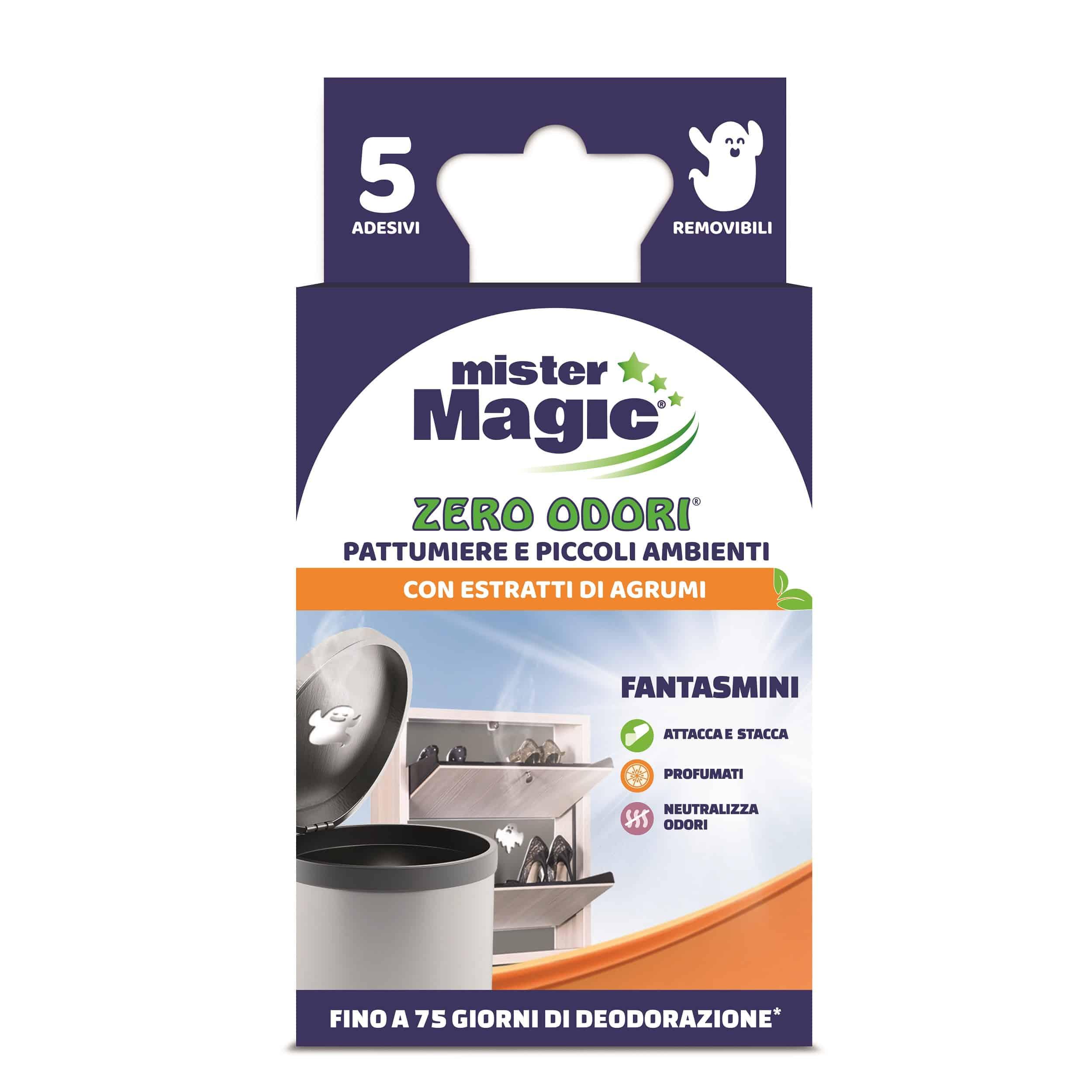 Linea Zero Odori di Mister Magic: il nuovo fantasmino neutralizza i cattivi odori nei piccoli ambienti