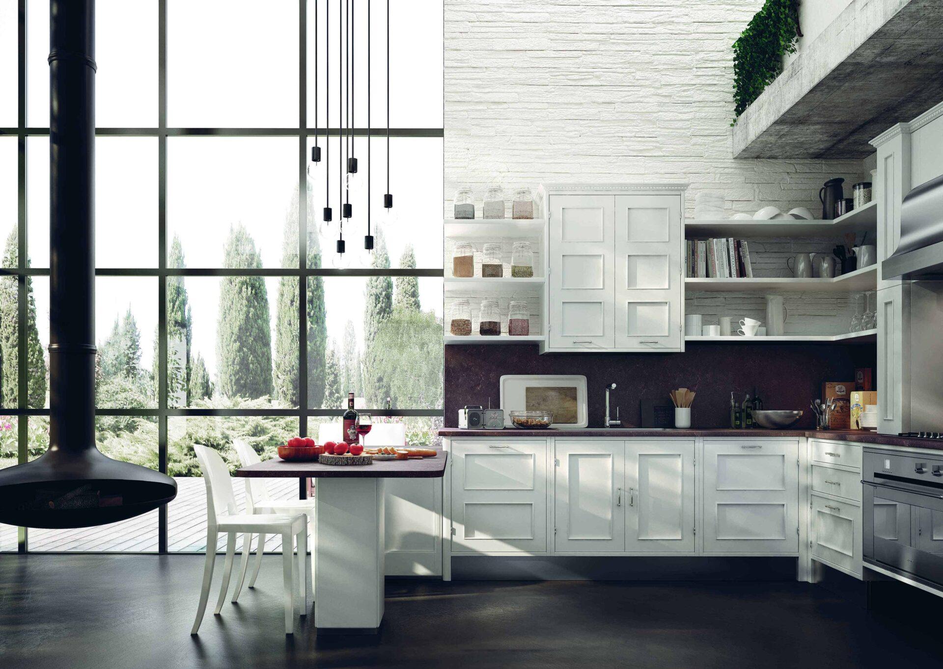 Cucina Montserrat di Marchi Cucine, mix di elegante design contemporaneo e linee tradizionali