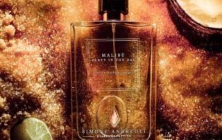 Simone Andreoli firma la fragranza Malibu, che evoca i sentori olfattivi di un Coconut Daiquiri