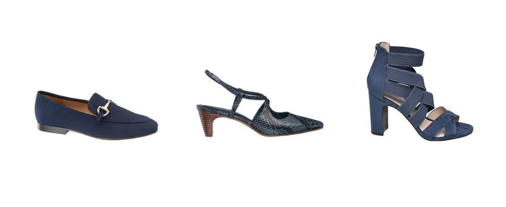 Deichmann: modelli evergreen in Classic Blue, colore moda 2020