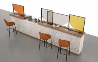 Collection C.19-Wall for life, divisori colorati per bar e ristoranti