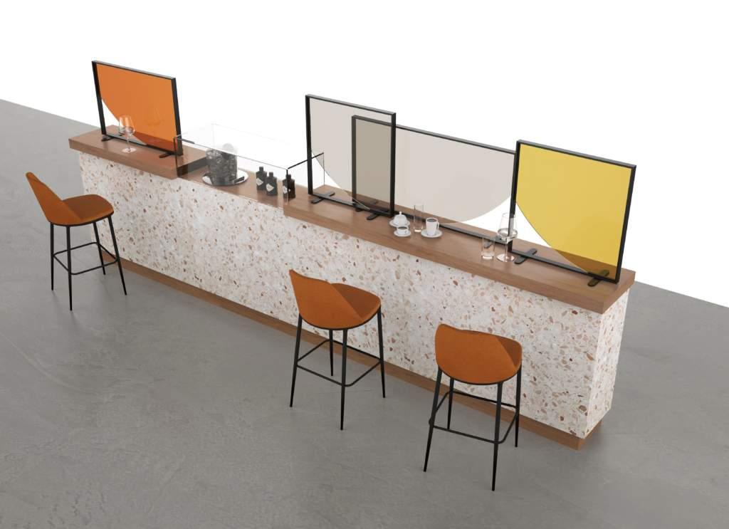Collection C.19-Wall for life, divisori colorati per bar e ristoranti