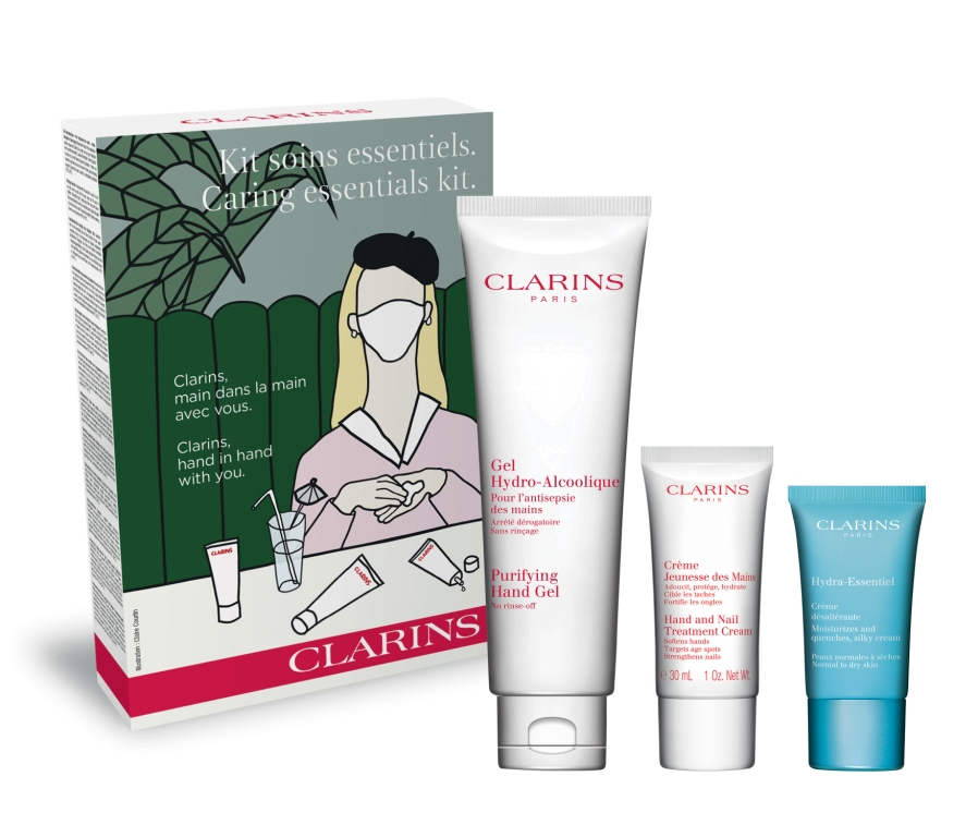 Clarins, il nuovo Caring Essentials Kit