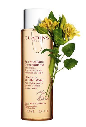 Clarins: detergenti e tonici alle erbe delle Alpi