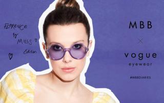 Millie Bobby Brown x Vogue Eyewear, la capsule collection di occhiali alla moda