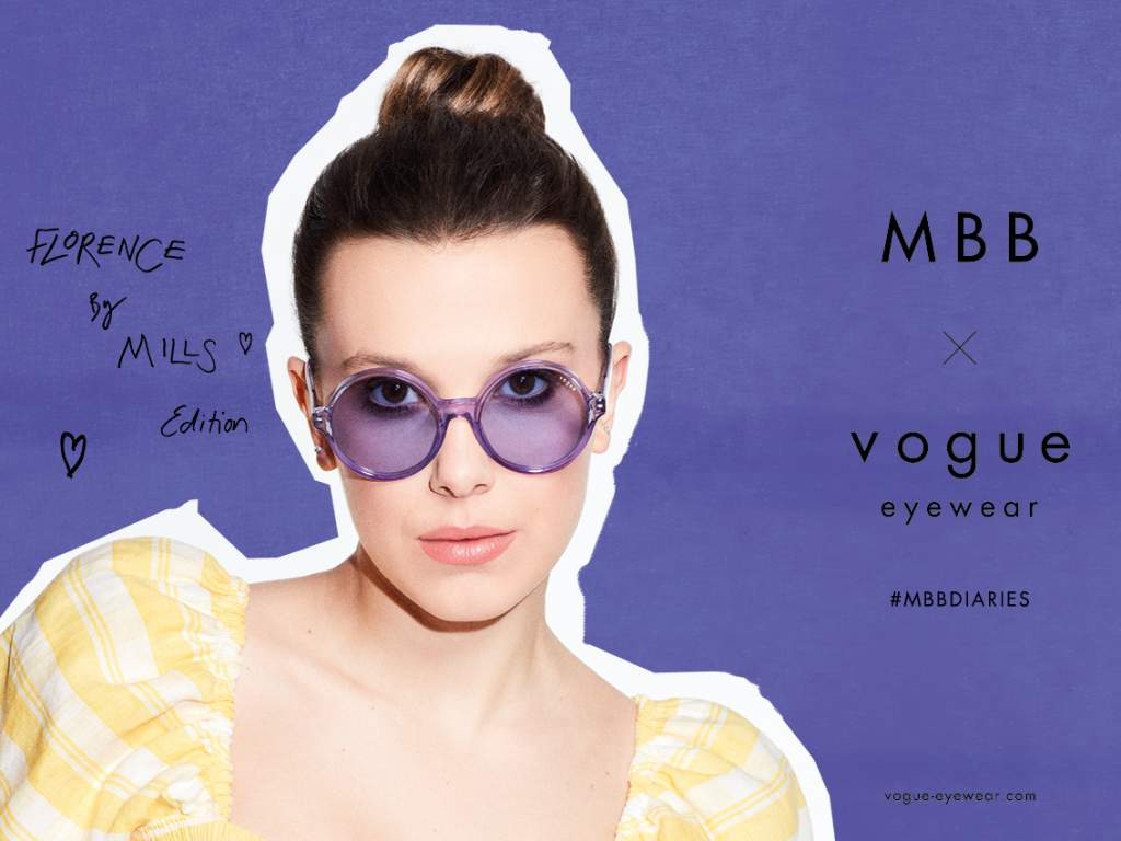 Millie Bobby Brown x Vogue Eyewear, la capsule collection di occhiali alla moda